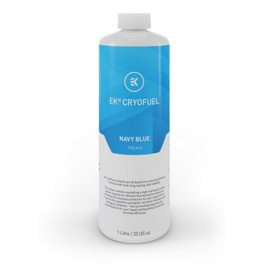 Liquido Refrigerante EK-CryoFuel Azul Marino 1L