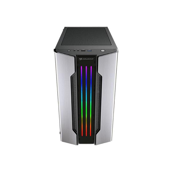 Caja PC mATX Cougar Gemini M RGB Con Ventana Plata