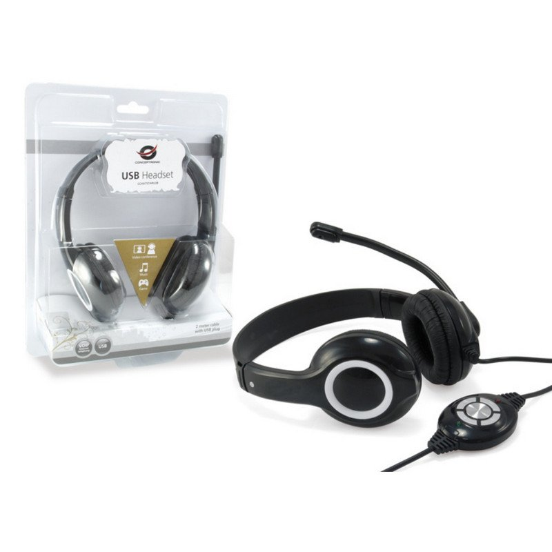Auriculares Conceptronic CCHATSTARU2BV2 USB Negro