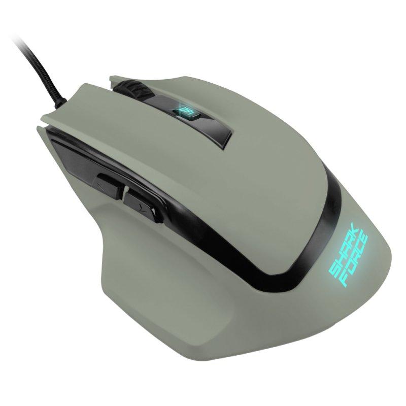Ratón Gaming USB Sharkoon Shark Force II Gris 4200DPI