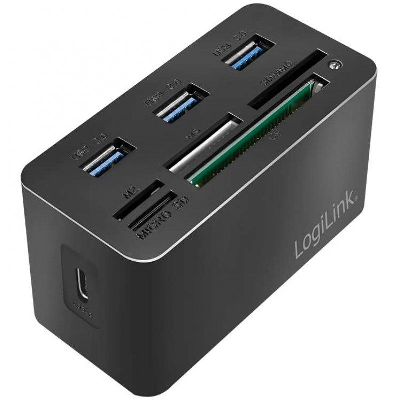 Lector de Tarjetas LogiLink Mini CR0046 USB 3.2 Negro
