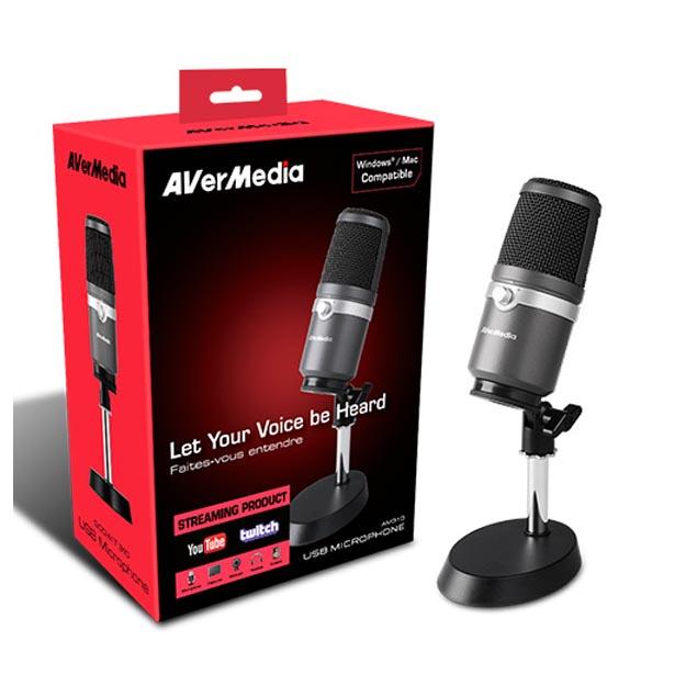 Micrófono con Soporte Avermedia Godwit AM310