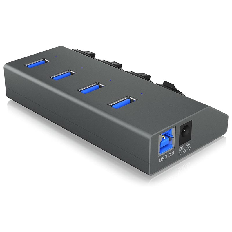Hub 4 Puertos ICY BOX IB-HUB1405C USB 3.0