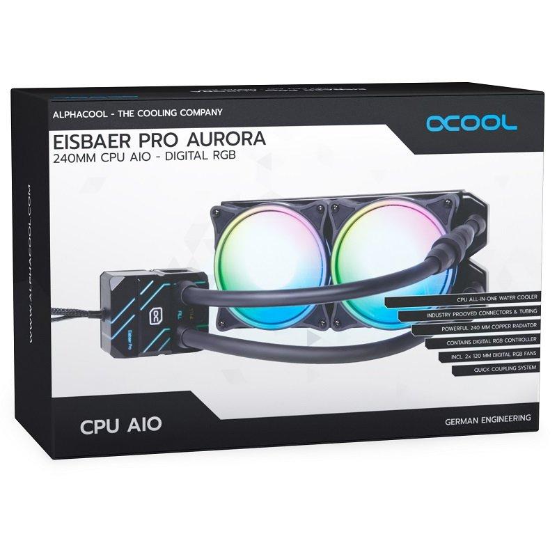 Refrigeración Líquida Alphacool Eisbaer Pro Aurora 240 ARGB