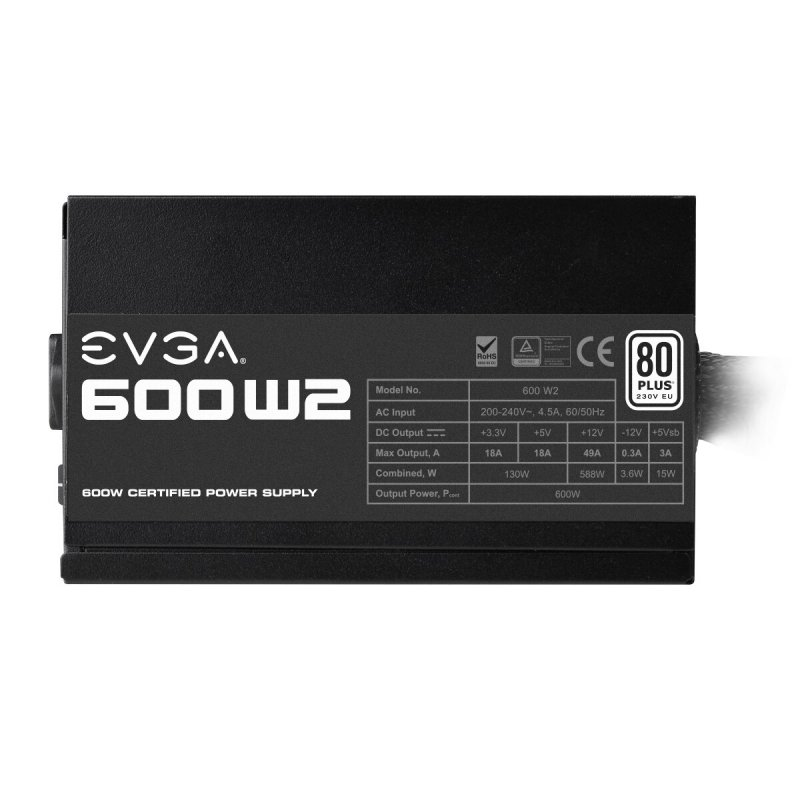 Fuente de Alimentación EVGA 600 W2 600W 80 Plus White
