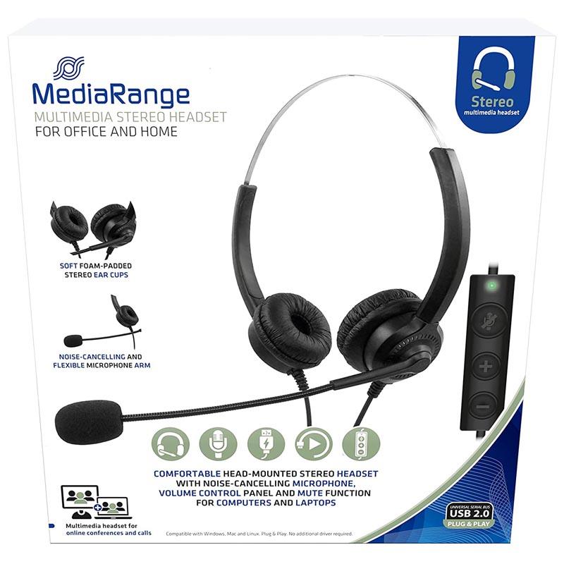 Auriculares con Microfono MediaRange MROS304