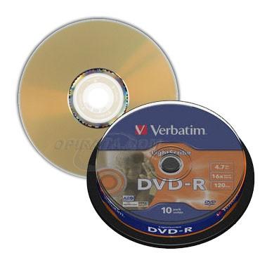 DVD-R 16x Verbatim Lightscribe V1.2 Tarrina 10 uds