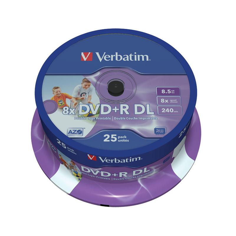 DVD+R Doble Capa 8x Verbatim FF Printable 25uds