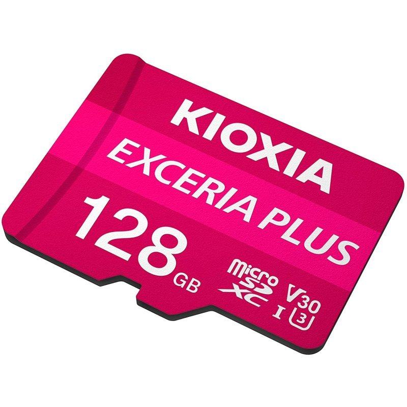 Tarjeta MicroSD 128GB Clase 10 UHS-I Kioxia Exceria Plus con Adaptador