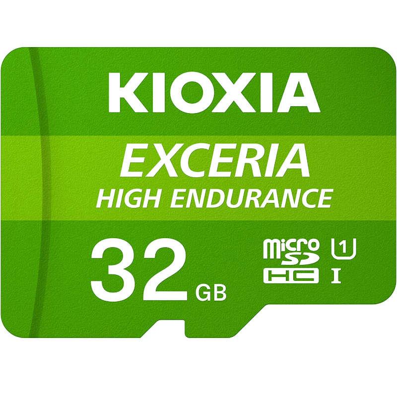 Tarjeta MicroSD 32GB Clase 10 UHS-I Kioxia Exceria High Endurance con Adaptador
