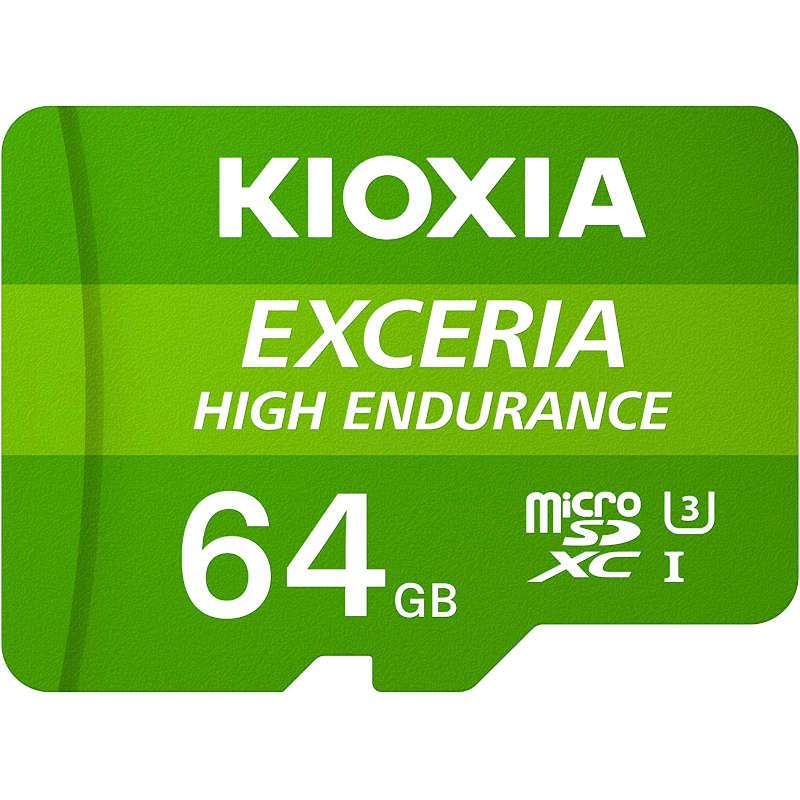 Tarjeta MicroSD 64GB Clase 10 UHS-I Kioxia Exceria High Endurance con Adaptador