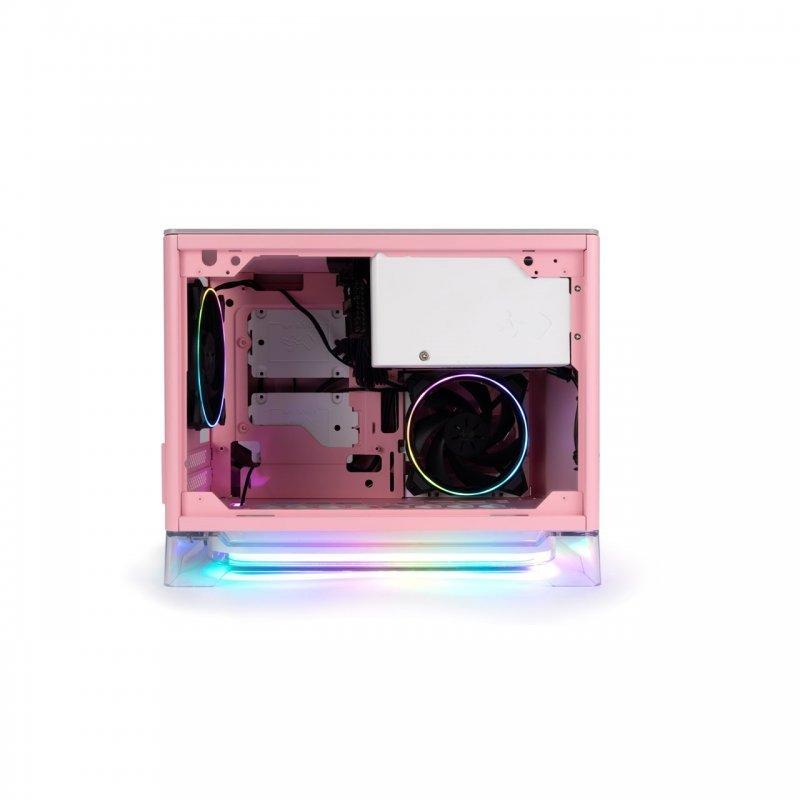Caja PC InWin A1Plus mITX Cristal Templado USB 3.0 Rosa + InWin PSU 650W 80+Gold