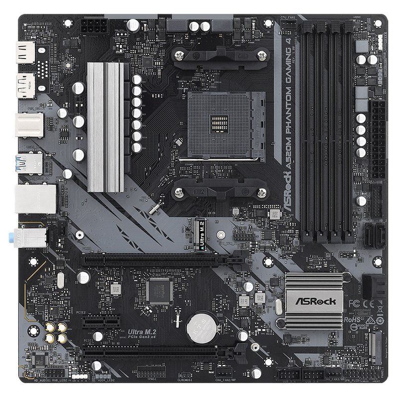 Placa Base Asrock A520M Phantom Gaming 4 ATX