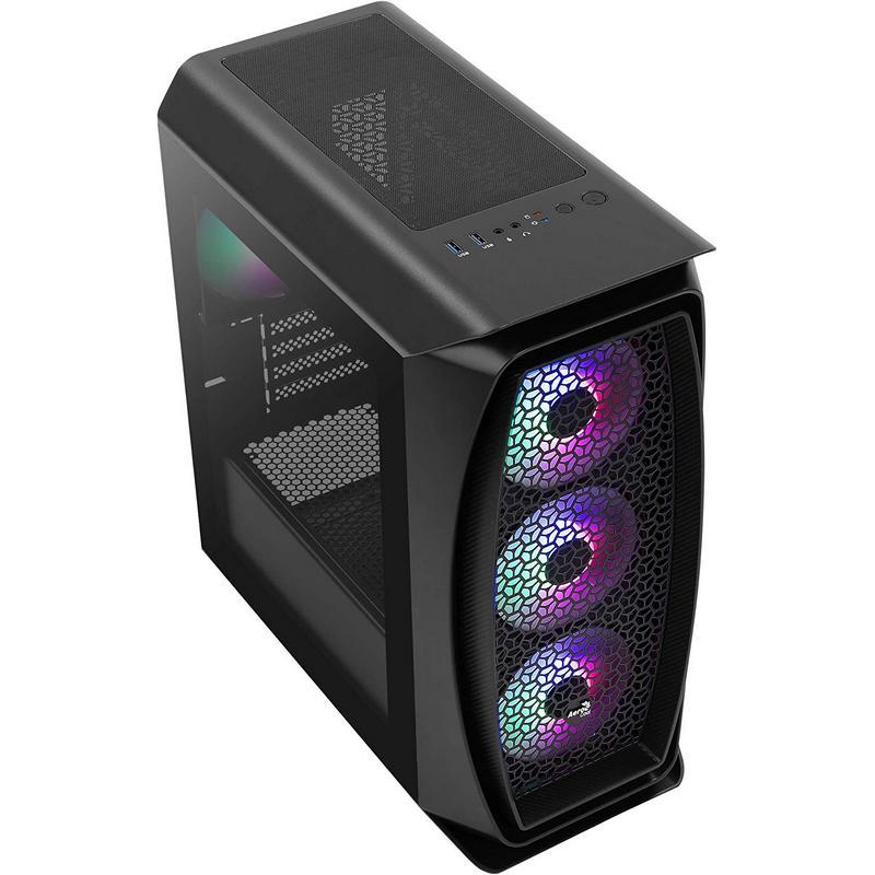 Caja PC MicroATX Aerocool Aero One Mini Frost con Cristal Templado Negro