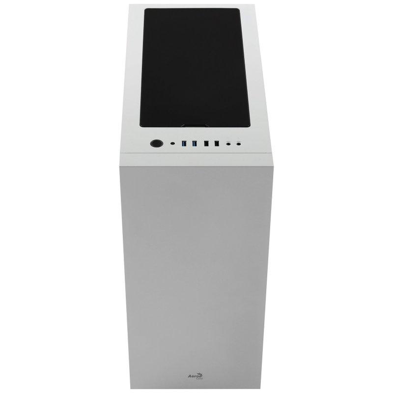 Caja PC Aerocool FLO ATX Cristal Templado USB 3.1 Blanca
