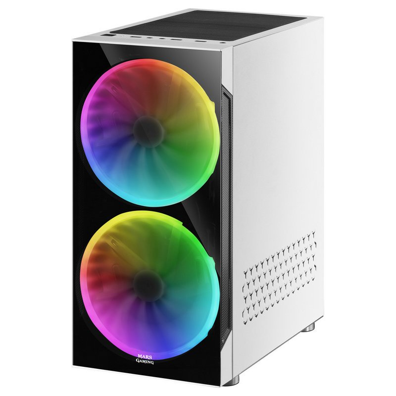 Caja PC Mars Gaming MC9 ATX Cristal Templado USB 3.0 Blanca