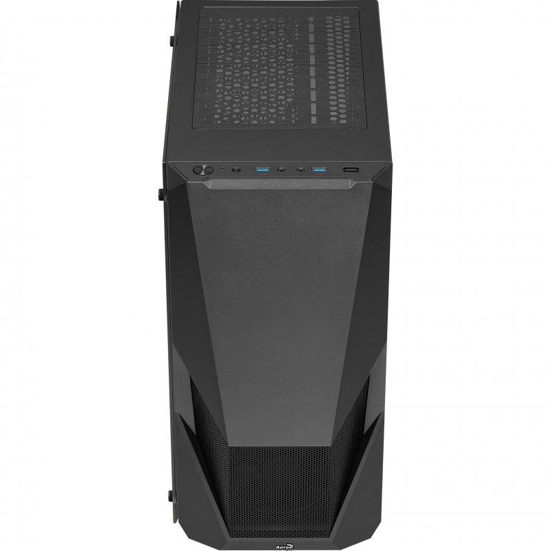 Caja ATX Aerocool Zauron con Cristal Templado Negro