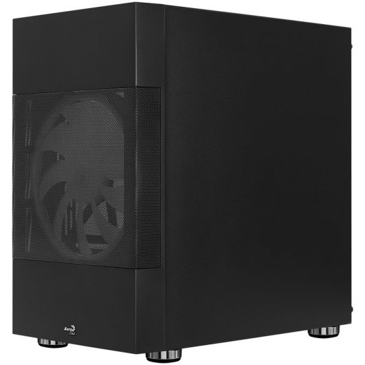Caja PC mATX Aerocool Atomic ARGB con Ventana Negro