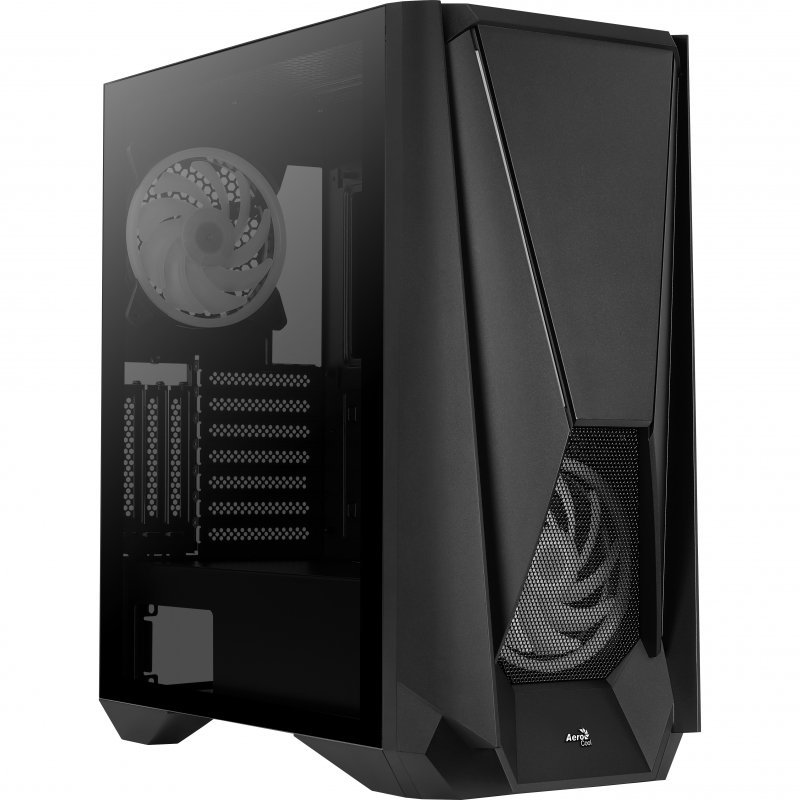 Caja PC E-ATX Aerocool Visor con Cristal Templado Negro