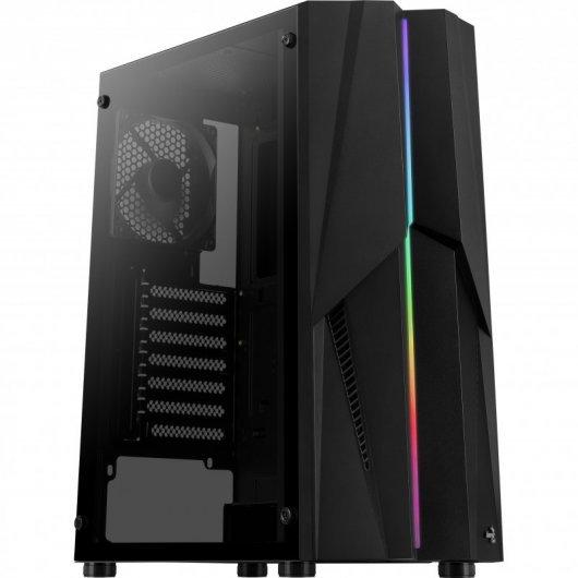 Caja PC Aerocool Mecha con Ventana Negro