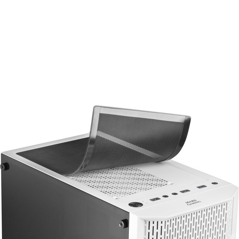 Caja PC ATX Mars Gaming MCA con Ventana Lateral Blanco