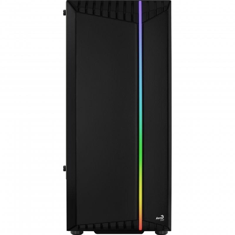 Caja PC Aerocool Bionic V1 ATX RGB Cristal Templado USB 3.0 Negra