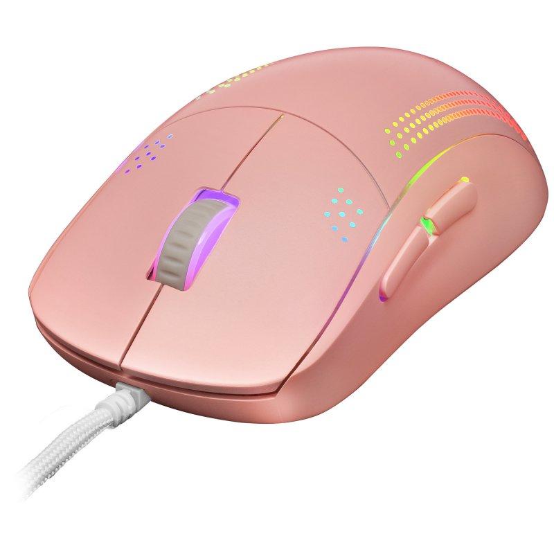 Ratón Óptico USB Mars Gaming MMPRO RGB 32000 DPI Rosa