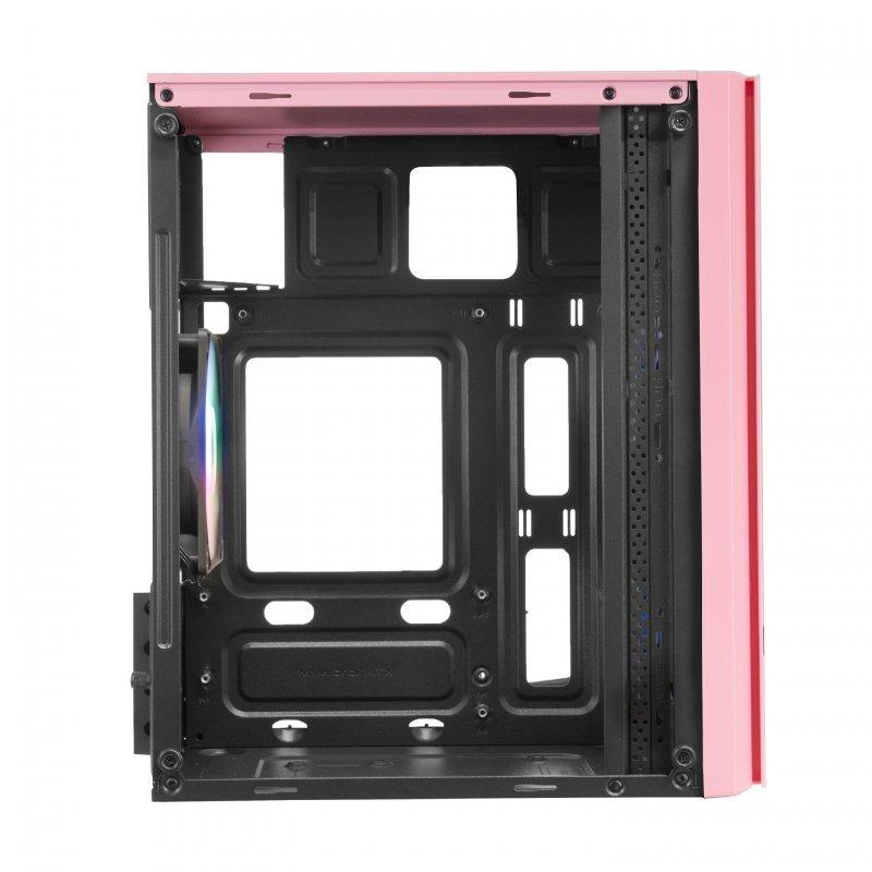 Caja PC Mars Gaming MC300 mATX FRGB USB 3.0 Rosa