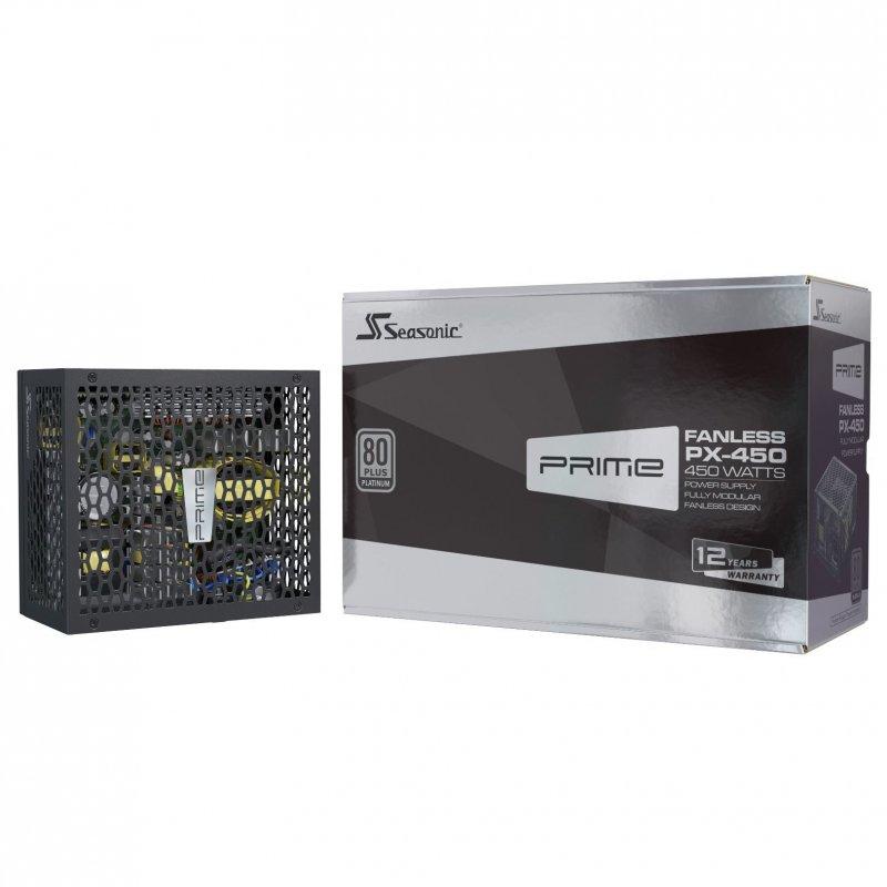 Fuente de Alimentación Seasonic PRIME Fanless-PX-500 450W 80+Platinum Modular