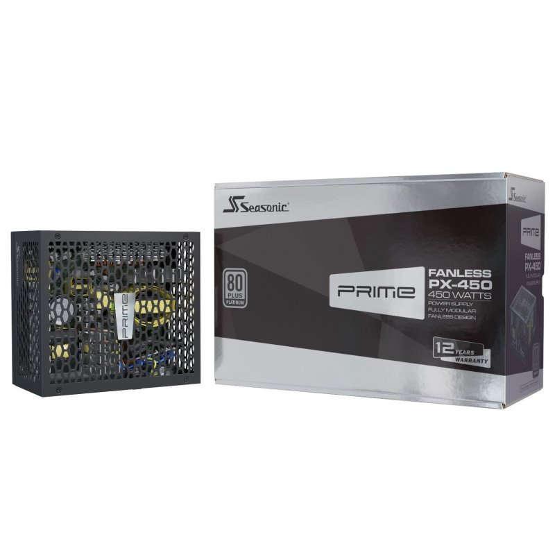 Fuente Alimentación Modular Seasonic PRIME Fanless PX450 450W 80 Plus Platinum