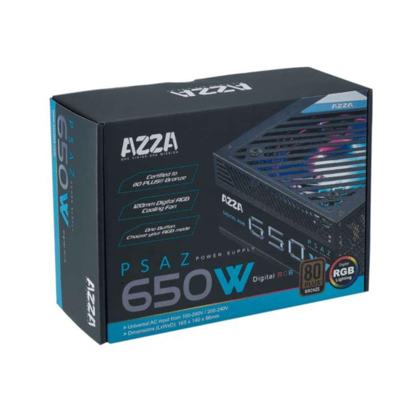 Fuente de Alimentación AZZA PSAZ-650 650W 80 Plus Bronze