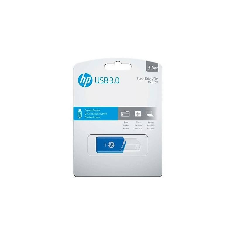 Pendrive 32GB HP X755W Azul