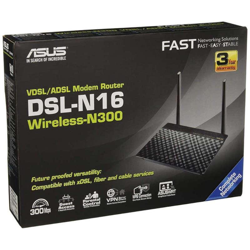 Router Inalámbrico Asus DSL-N16U Negro