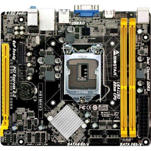 Placa Base Biostar H81MHV3 LGA 1150 mATX