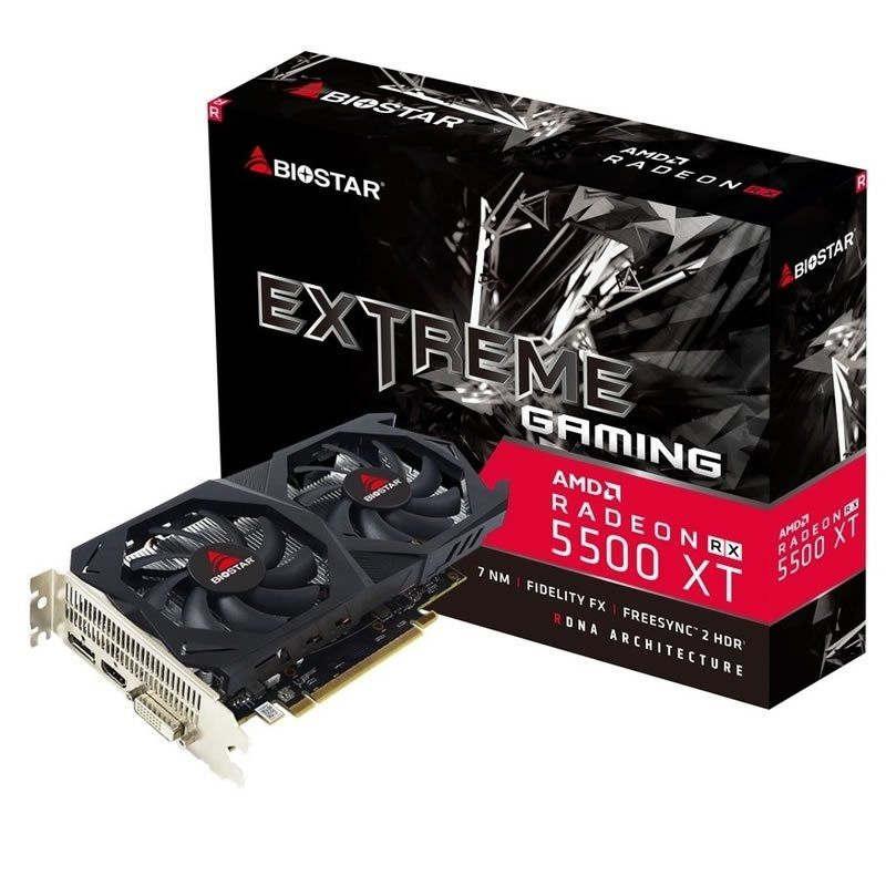Tarjeta Gráfica Biostar Radeon RX 5550XT 8GB GDDR6
