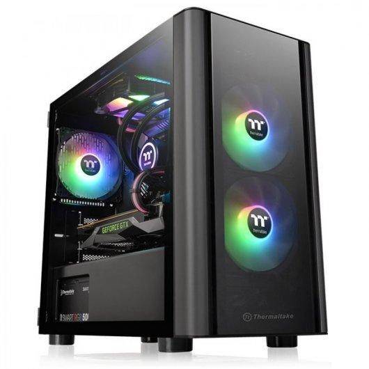 Caja PC mATX Thermaltake V150 con Cristal Templado Negro
