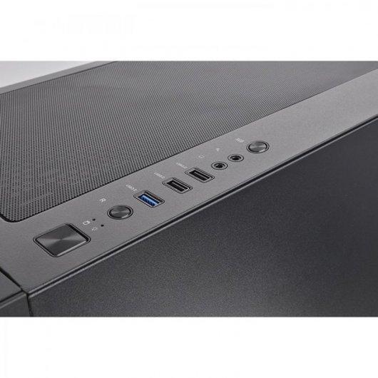 Caja PC Thermaltake H350 TG RGB Negro