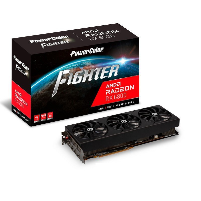 Tarjeta Gráfica PowerColor AMD Radeon RX 6800 Fighter 16GB GDDR6