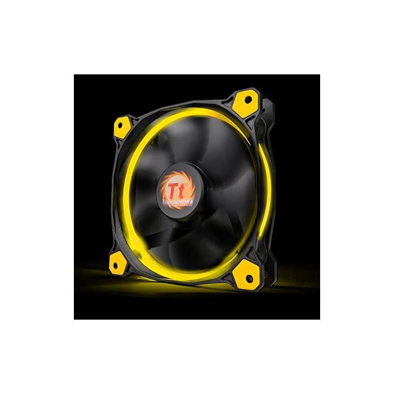 Ventilador Thermaltake Riing 14 LED 140 mm Amarillo