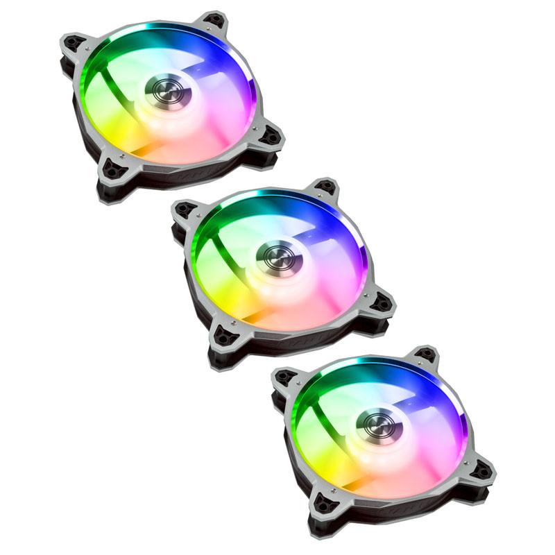 Pack 3 Ventiladores Lian Li Bora Digital 120mm Plata PWM RGB