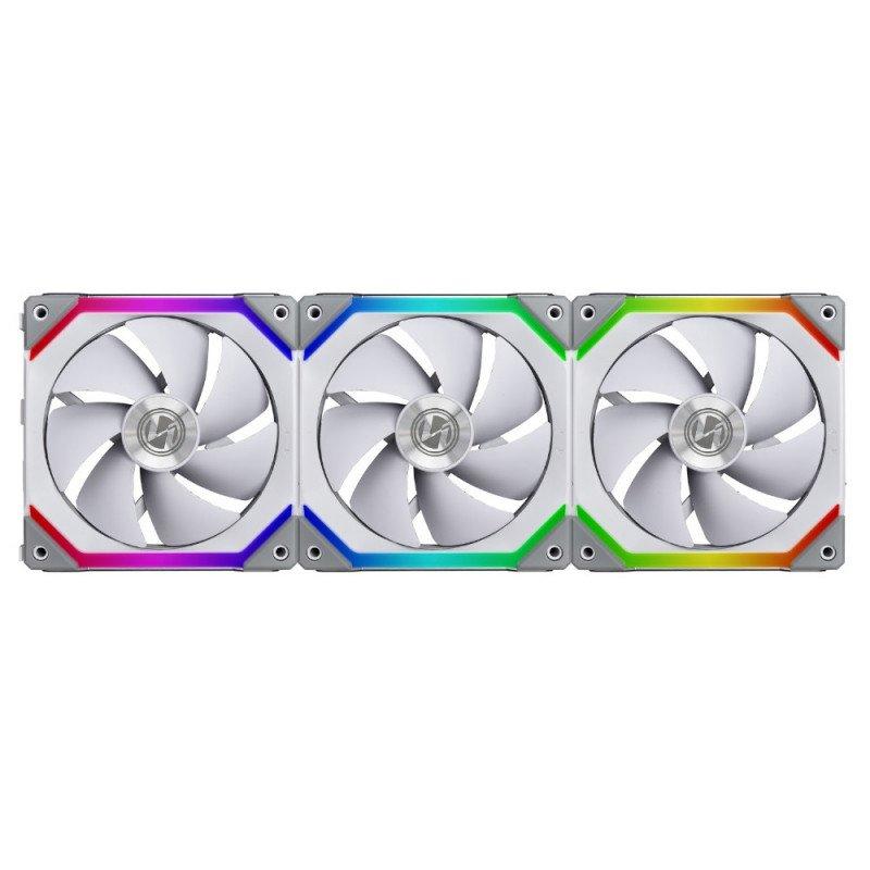 Kit Lian-Li Uni Fan SL120 RGB 120mm Blanco