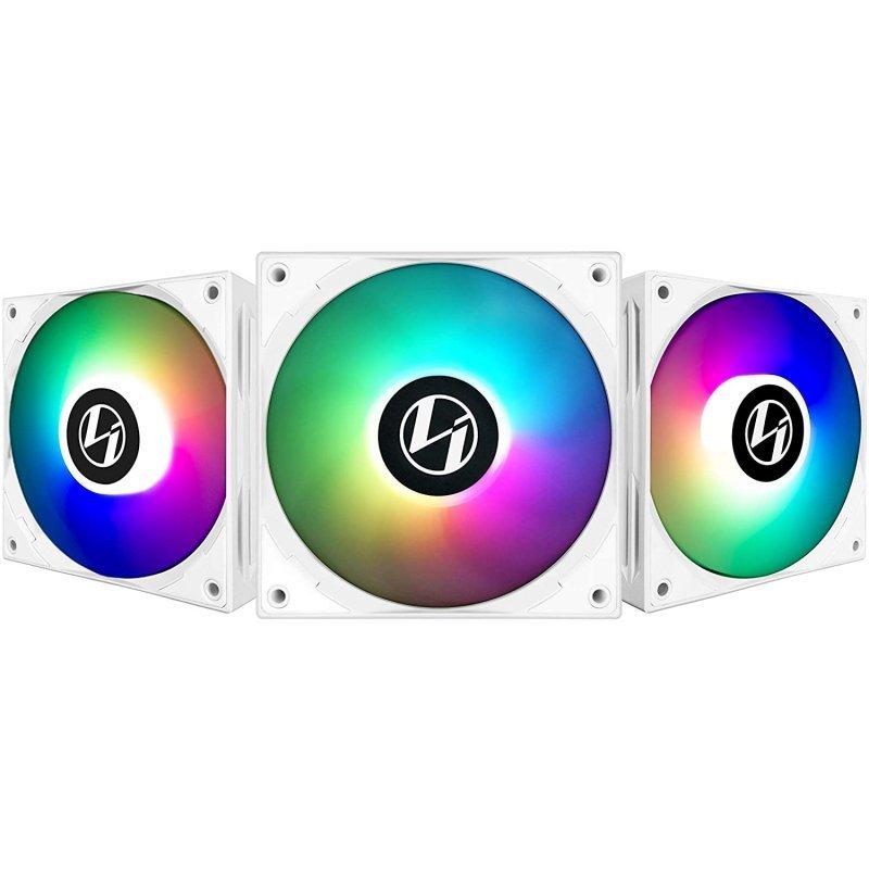 Ventilador PC Lian-Li ST120 RGB PWM 120mm Blanco (3 Unidades)