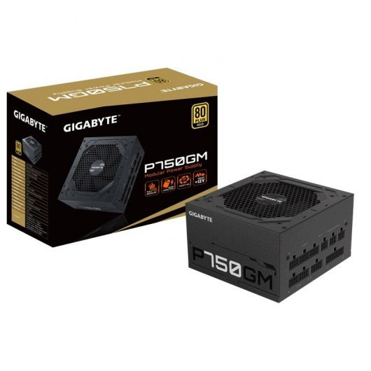 Fuente de alimentación GigaByte P750GM 80Plus Gold Modular
