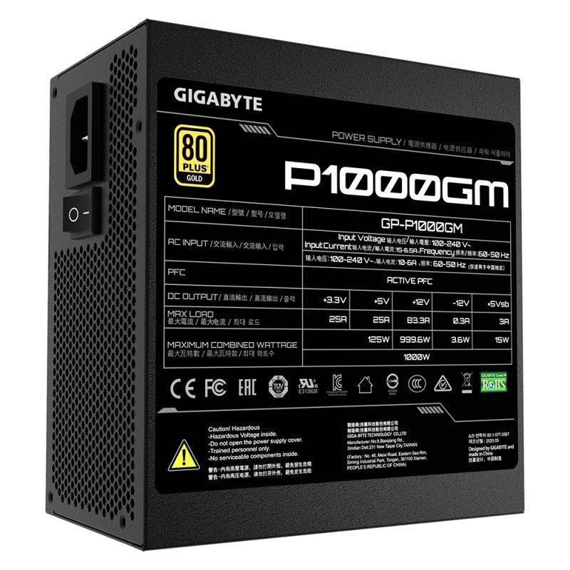 Fuente de Alimentación Modular Gigabyte P1000GM 1000W 80 Plus Gold