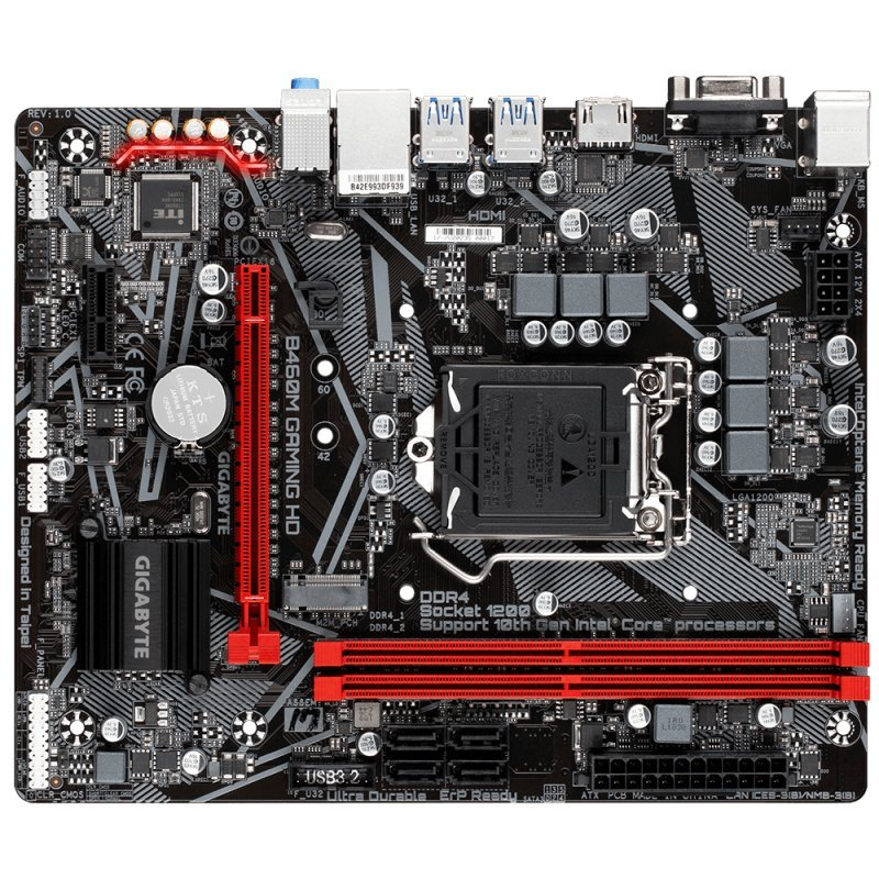 Placa Base Gigabyte B460M Gaming HD mATX LGA1200