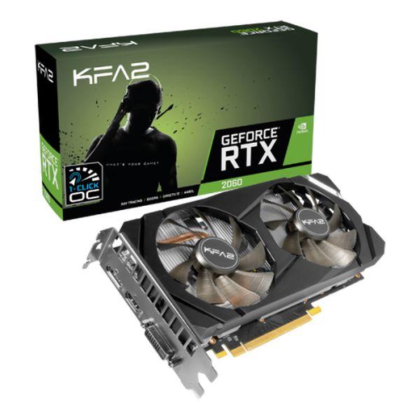 Tarjeta Gráfica KFA² GeForce RTX 2060 1-Click OC 6GB GDDR6