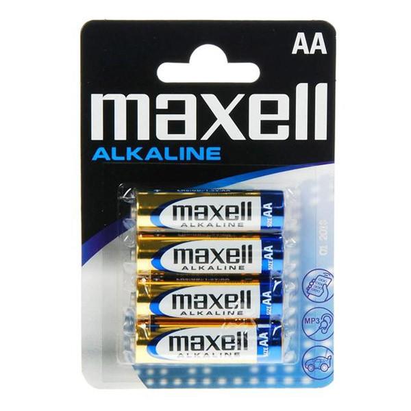 Pila Alcalina AA Maxell pack 4 uds (LR6)