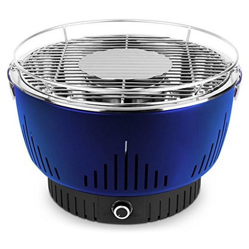 Parrilla de carbón con ventilación activa medion md17700 azul