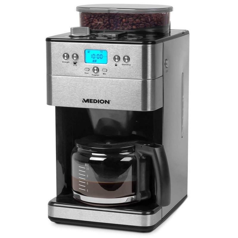 Cafetera Eléctrica con Molinillo Medion MD 16893 1000W