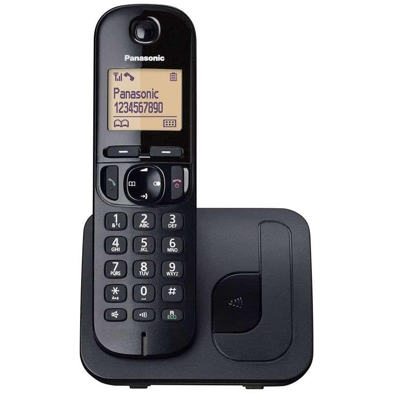 Teléfono DECT Inalámbrico Panasonic KX-TGC210SPB Negro